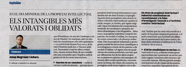 Article d'opinió de Josep Magraner a Diario de Mallorca