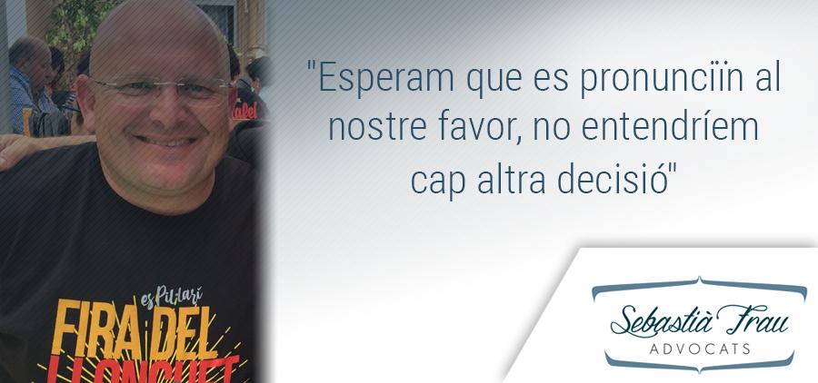 Pedro Medina espera que es pronunciïn a favor de la Fira del Llonguet