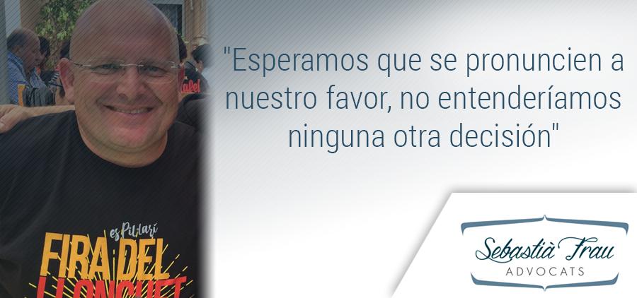 Pedro Medina espera que se pronuncien a favor de la Fira del Llonguet