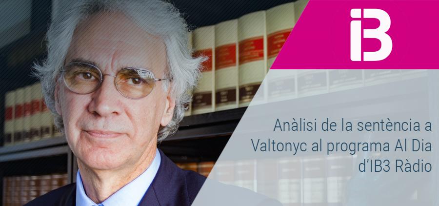 Sebastià Frau analitza la sentència a Valtonyc al programa Al Dia, de IB3 Ràdio